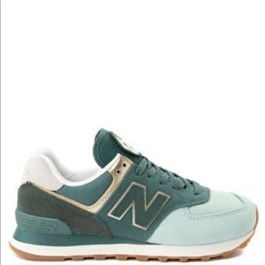 New Balance 574 Metallic Patch Athletic Shoe